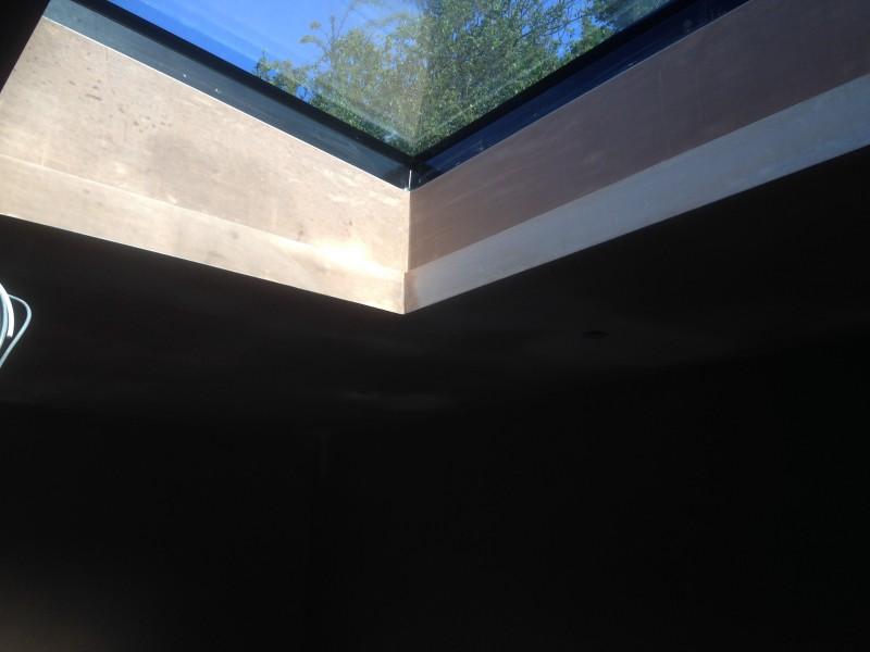 Plastering around velux window